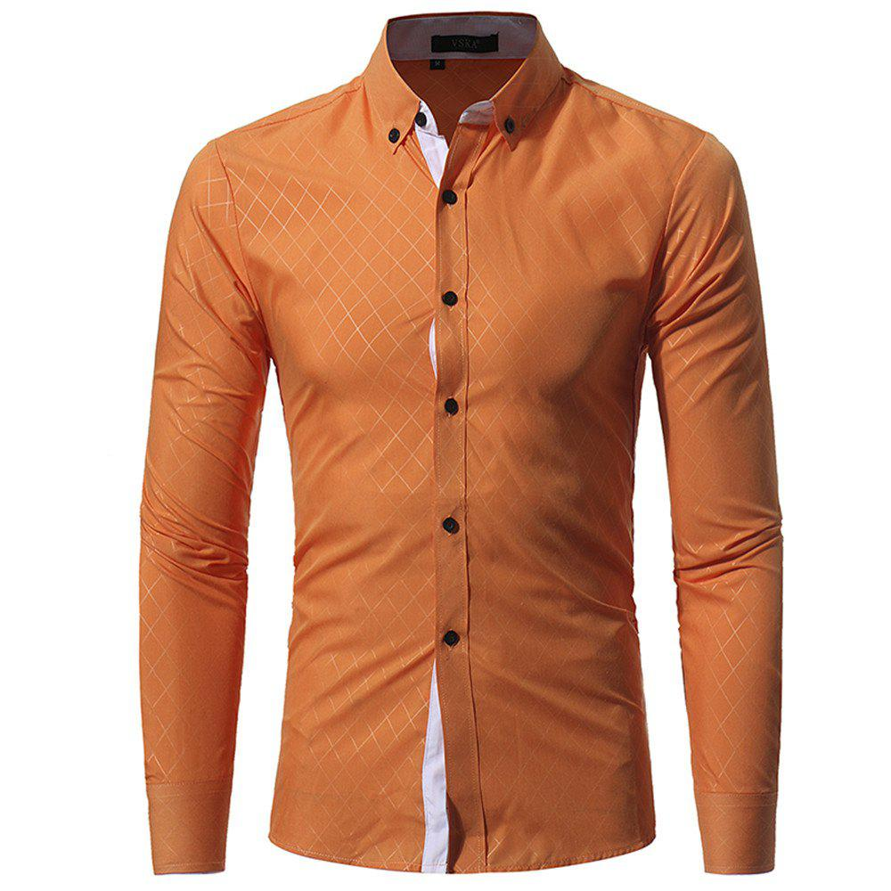Discount New Umber Lingge Men's Casual Slim Shirt
