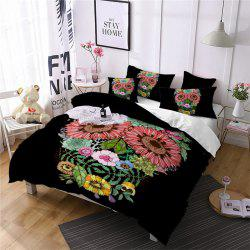 AS96-B Rose Fear Personality Decorative Pattern Bedding Set -