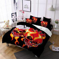 AS99-B Flame Skeleton Fear Personality Decorative Pattern Bedding Set -