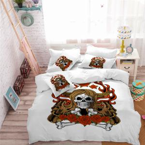 AS100-A Rose Fear Personality Decorative Pattern Bedding Set -
