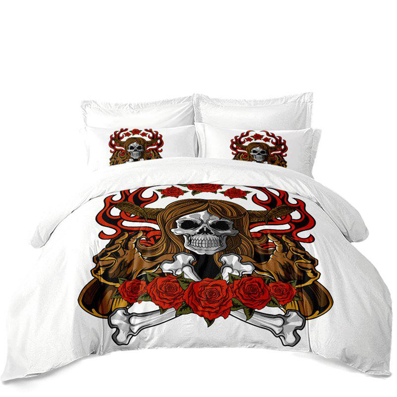 Trendy AS100-A Rose Fear Personality Decorative Pattern Bedding Set