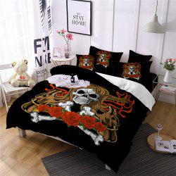 AS100-B Rose Fear Personality Decorative Pattern Bedding Set -