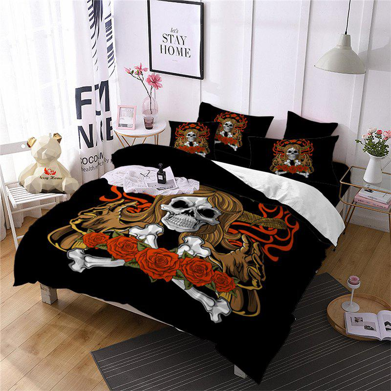 Online AS100-B Rose Fear Personality Decorative Pattern Bedding Set