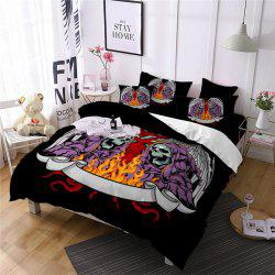 AS101-B Indian Flame Skeleton Fear Personality Decorative Pattern Bedding Set -