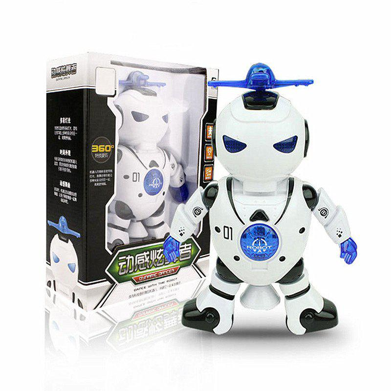 Space Dancing Electric Robot 360-degree Rotating Light Music Infrared Toy 269367903