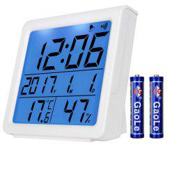 High Precision Temperature and Humidity Alarm Clock -