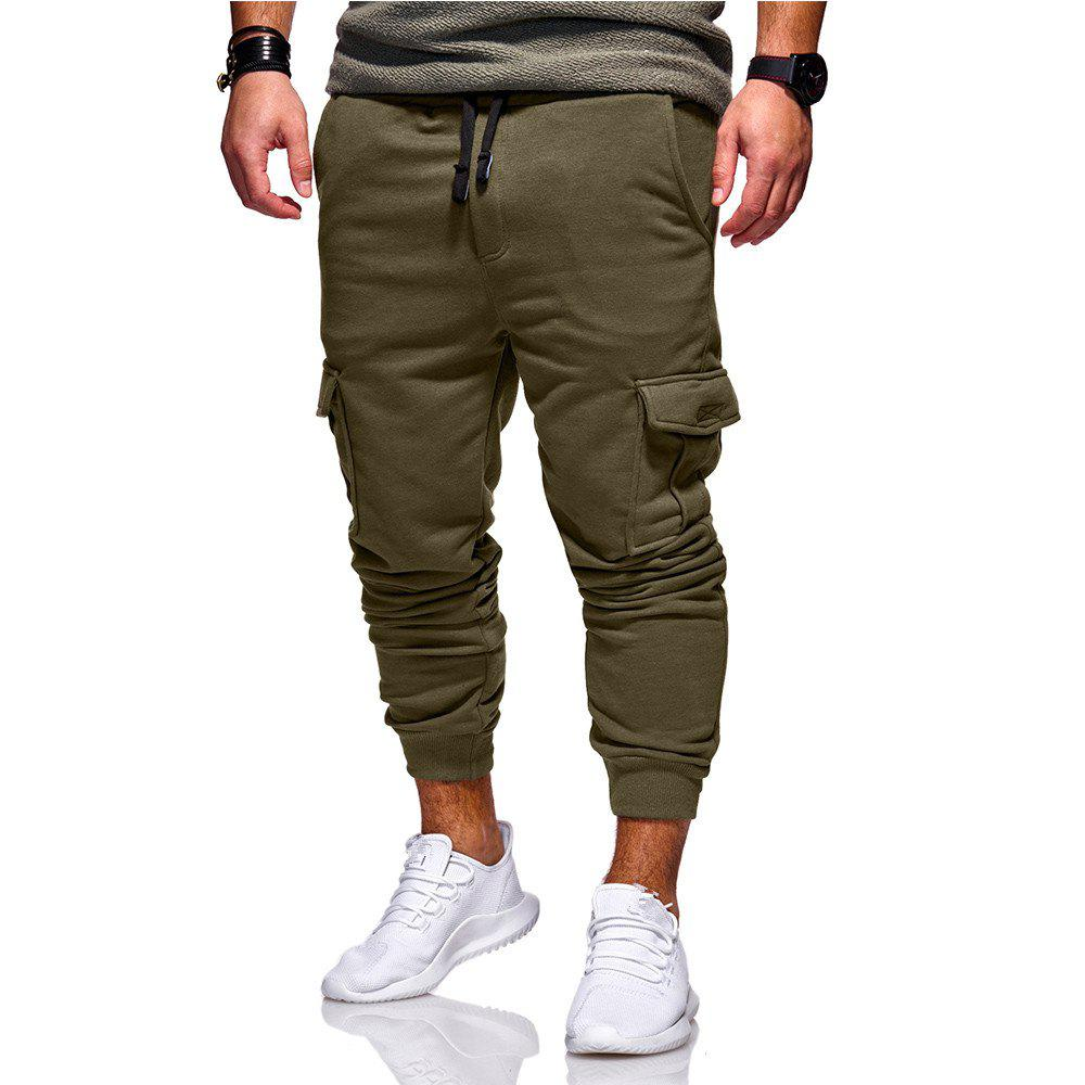 Hot Men's Casual Fashion Trend Slim Pants Sweatpants