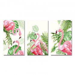 MY43-XDZS - 160-161-162 3PCS Romantic Pink Flamingo Print Art -