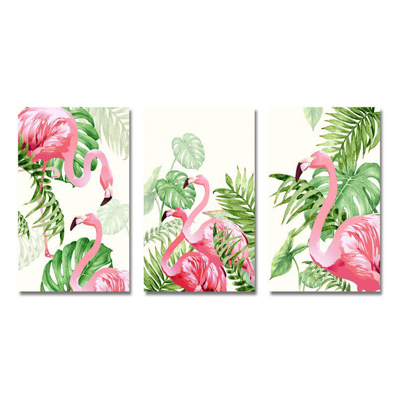 Chic MY43-XDZS - 160-161-162 3PCS Romantic Pink Flamingo Print Art