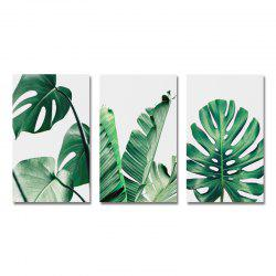MY43-XDZS - 178-179-180 3PCS Small Fresh Wind of Plant Leaves Print Art -