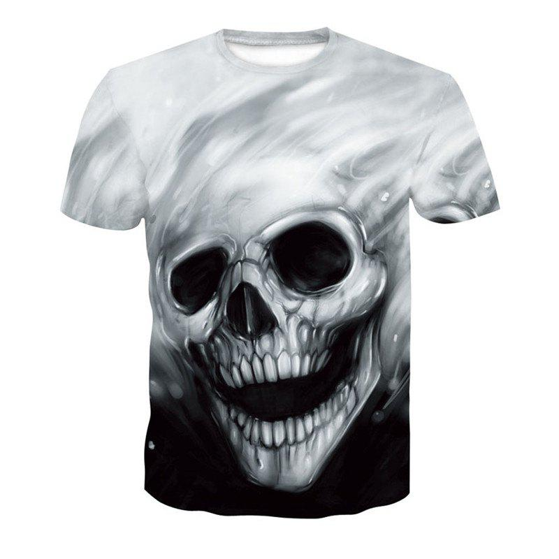 a115a51e2896 Chic Black and White 3D Print Men s Casual Short Sleeve Graphic Tee T-shirt