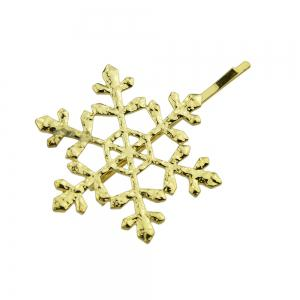 Gold-color Hollow Snowflake Hairpin -