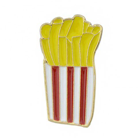 Online Gold-color with Colroful Enamel French Fries Brooch