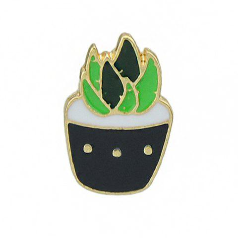 Store Gold-color Colorful Enamel Potted Plants Brooch