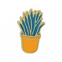 Gold-color Colorful Enamel Potted Plants Brooch -