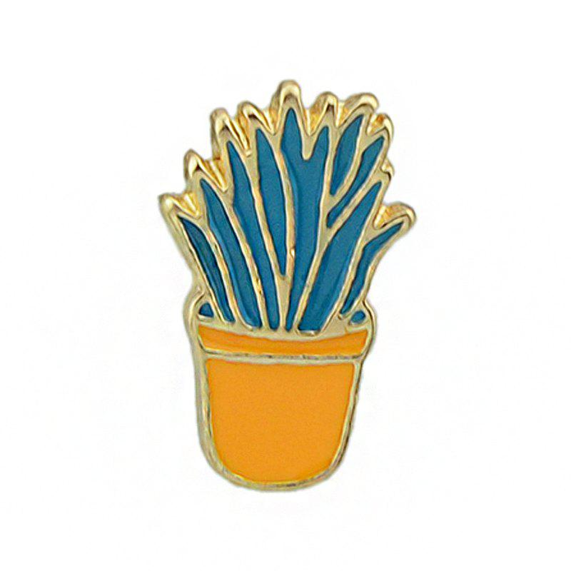 Outfits Gold-color Colorful Enamel Potted Plants Brooch