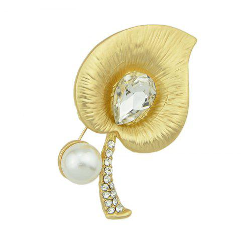 Trendy Gold-color Luxury with  Rhinestone Crystal Flower Brooches