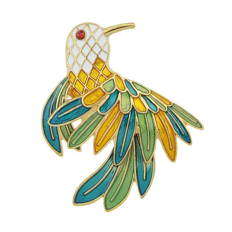 Hot Colorful Enamel Bird Brooches for Women