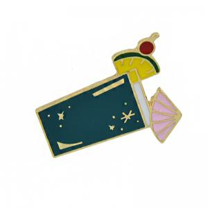 Gold-color Metal with Colorful Enamel Juice Brooches -
