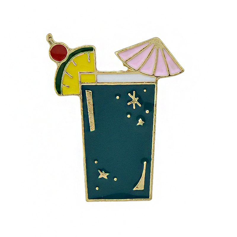 Trendy Gold-color Metal with Colorful Enamel Juice Brooches
