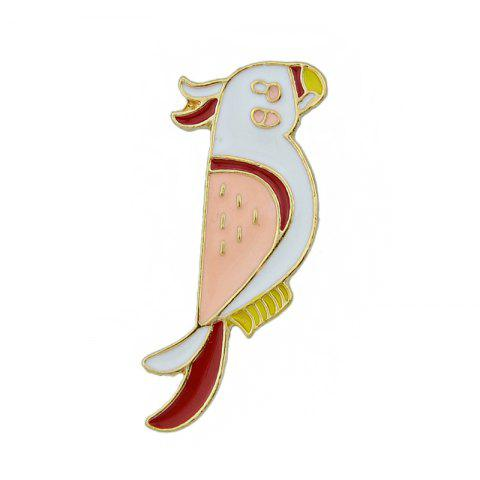 Online Colorful Enamel Bird with Gold-color Metal Cute Brooches