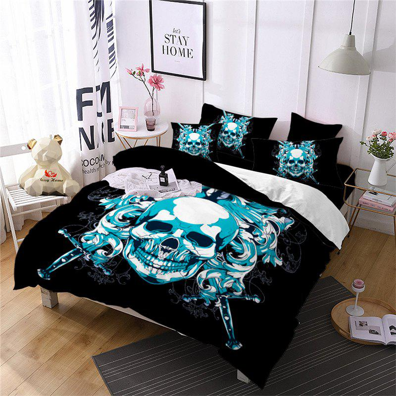 Hot AS105-B Oath Sword Skeleton Pattern Decoration Bedding Set