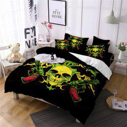 AS106-B Rose Flower Skeleton Design Personality Decoration Bedding Set -