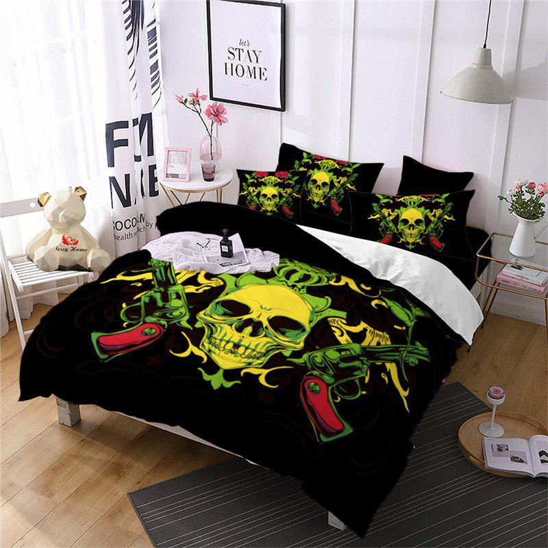 Store AS106-B Rose Flower Skeleton Design Personality Decoration Bedding Set