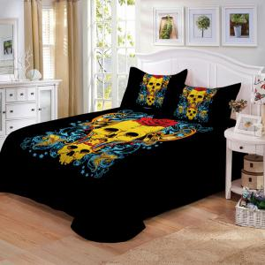 AS107-B  Rose Fear Personality Decorative Pattern Bedding Set -