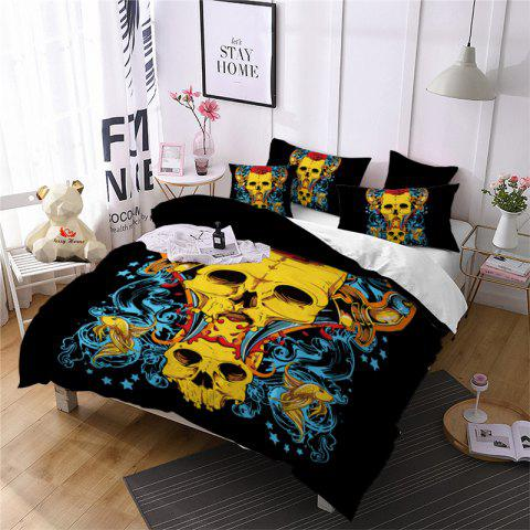 New AS107-B  Rose Fear Personality Decorative Pattern Bedding Set