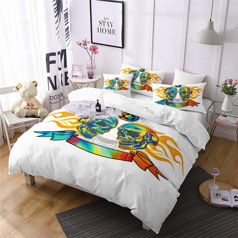 Unique AS111-A Flame Skeleton Fear Personality Decorative Pattern Bedding Set