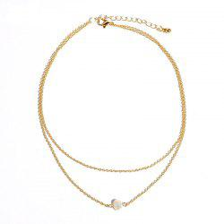 Fashionable Simple Double-Layer Women Popular Necklace -