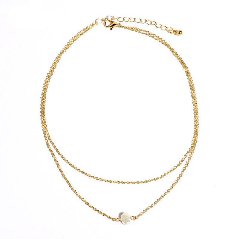 Cheap Fashionable Simple Double-Layer Women Popular Necklace