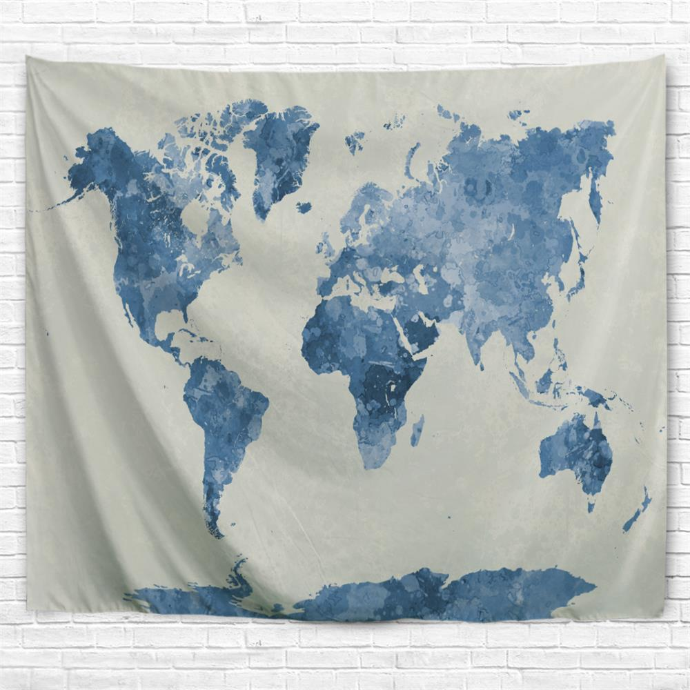 Multi a w230cmxl180cm ink world map 3d printing home wall hanging cheap ink world map 3d printing home wall hanging tapestry for decoration gumiabroncs Image collections