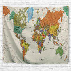 Colorful World Map 3D Printing Home Wall Hanging Tapestry for Decoration -