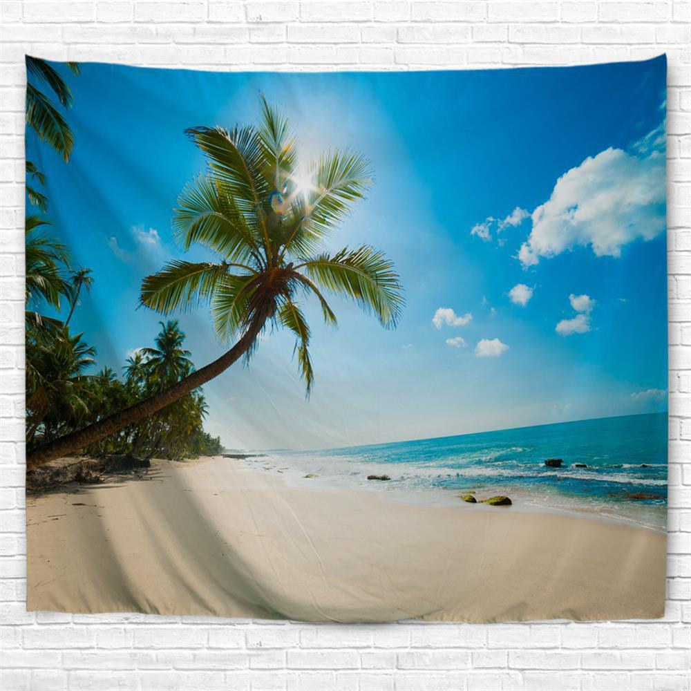 Sale Tropical Beach 3D Printing Home Wall Hanging Tapestry for Decoration
