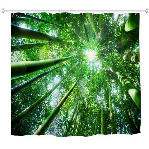 New Bamboo Sun Shade Water-Proof Polyester 3D Printing Bathroom Shower Curtain