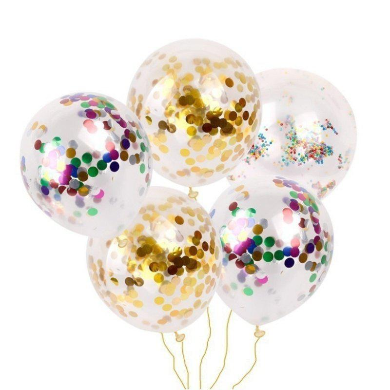 Discount Party Confetti Gold Glitter Balloons Wedding Decorations
