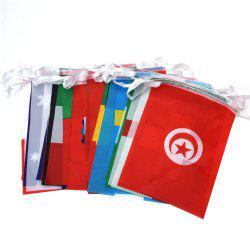 Flags Set of 32 Country Banner Decorations -