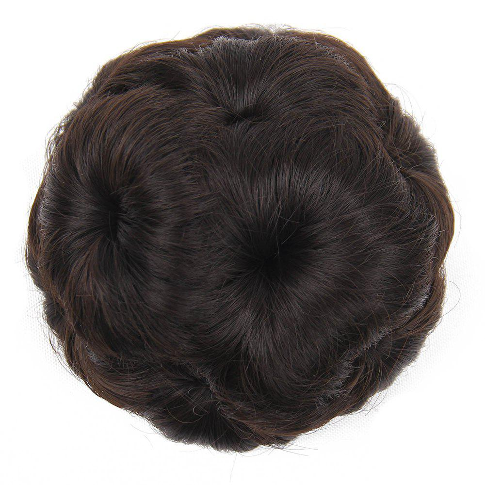 New TODO 12cm Flowers Bud Insert Comb Clip In Bun Updo Cover Hair Extensions