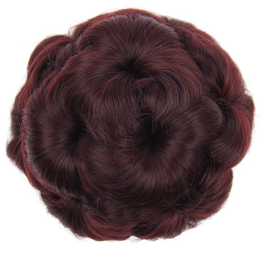 Trendy TODO 12cm Flowers Bud Insert Comb Clip In Bun Updo Cover Hair Extensions