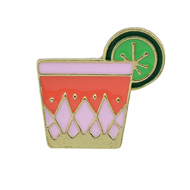Best Colorful Enamel Juice with Gold-color Metal Cute Brooches