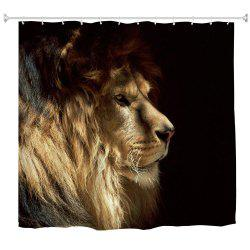 Lion King Water-Proof Polyester 3D Printing Bathroom Shower Curtain -