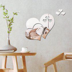 Three-dimensional Stereoscopic Heart-Shaped Wall Decal Sticker -