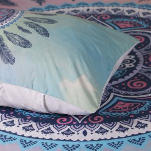 2pcs Feathers Decorative  Pillow Case -