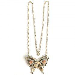 European and American Popular Steampunk Gear Butterfly Necklace -