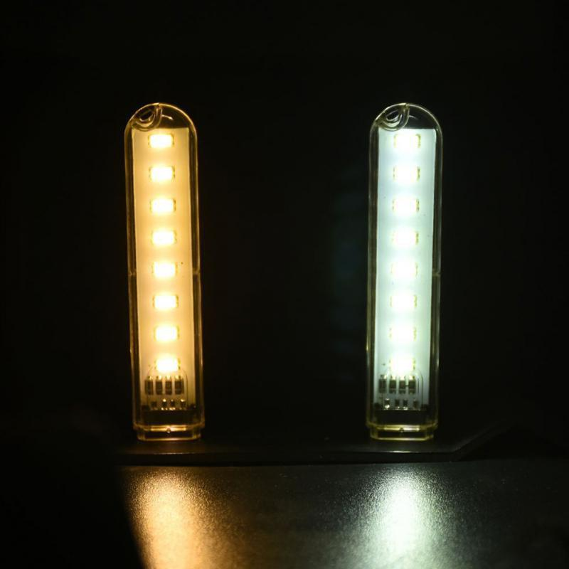 Mini lampe mobile USB Power LED 2PCS Transparent