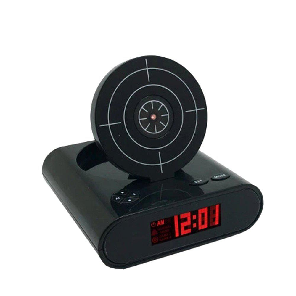 Unique Creative Target Toy LED Red Word Display Mute Alarm Clock