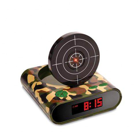 Outfits Creative Target Toy LED Red Word Display Mute USB Alarm Clock