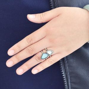 Silver Color Geometric Circle Ring -